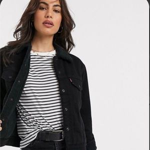 Black Denim Levis Ex Boyfriend Jacket